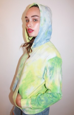 Tie-dye Hooded Sweater