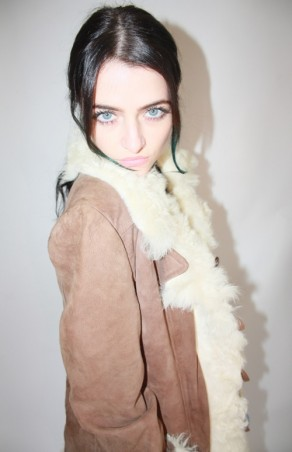 Tan Suede Sheepskin Afghan Coat