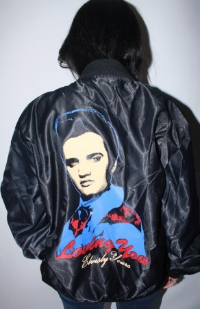 Elvis Presley Satin Bomber Jacket
